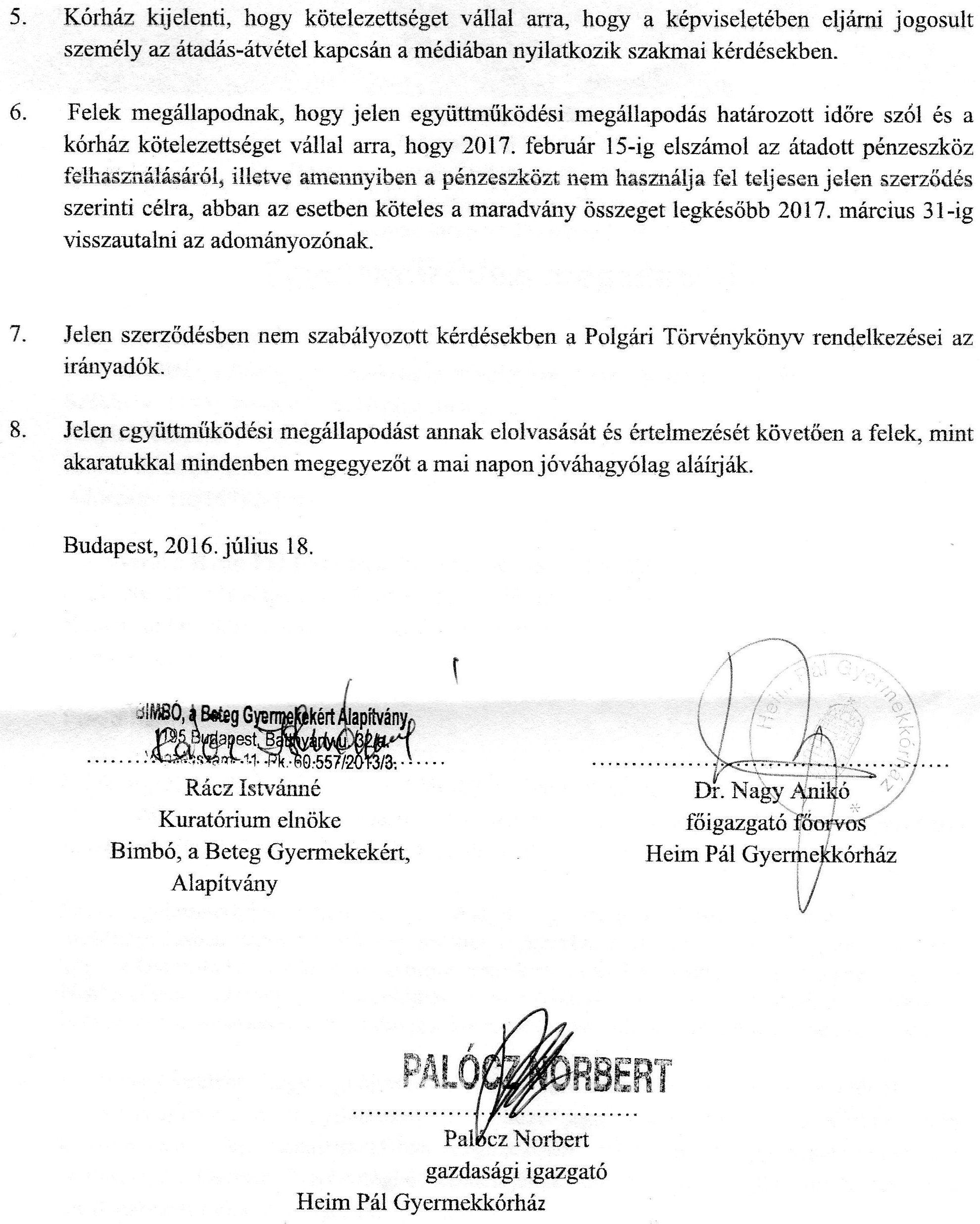 Heim Pál Együttműködési megállapodás 2016 2. oldal