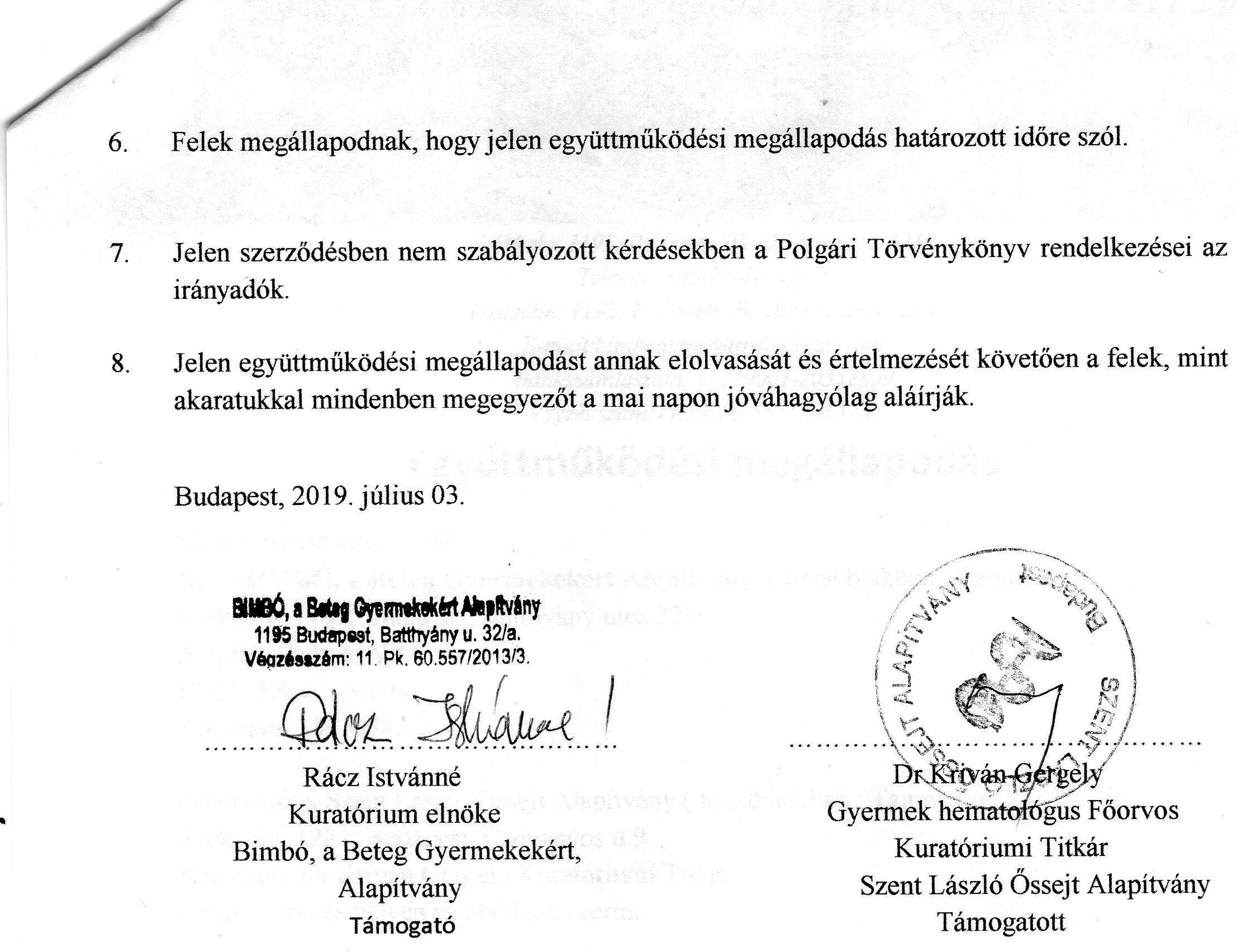 László Kórház Gyermekhematológia 2019-2020. 2.o.